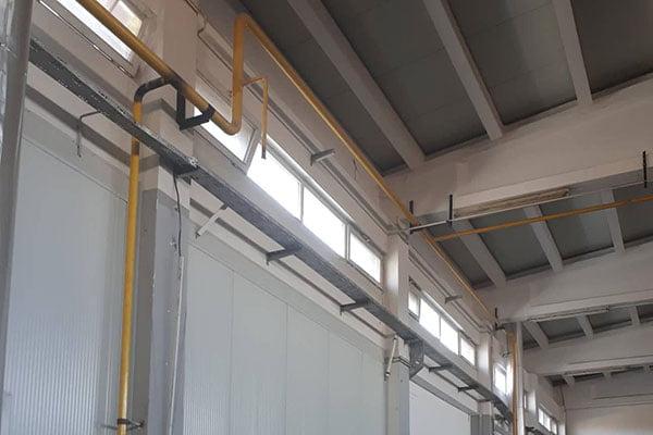 Изведба и одржување на парни и гасни линии во прехрамбено индустриски објекти