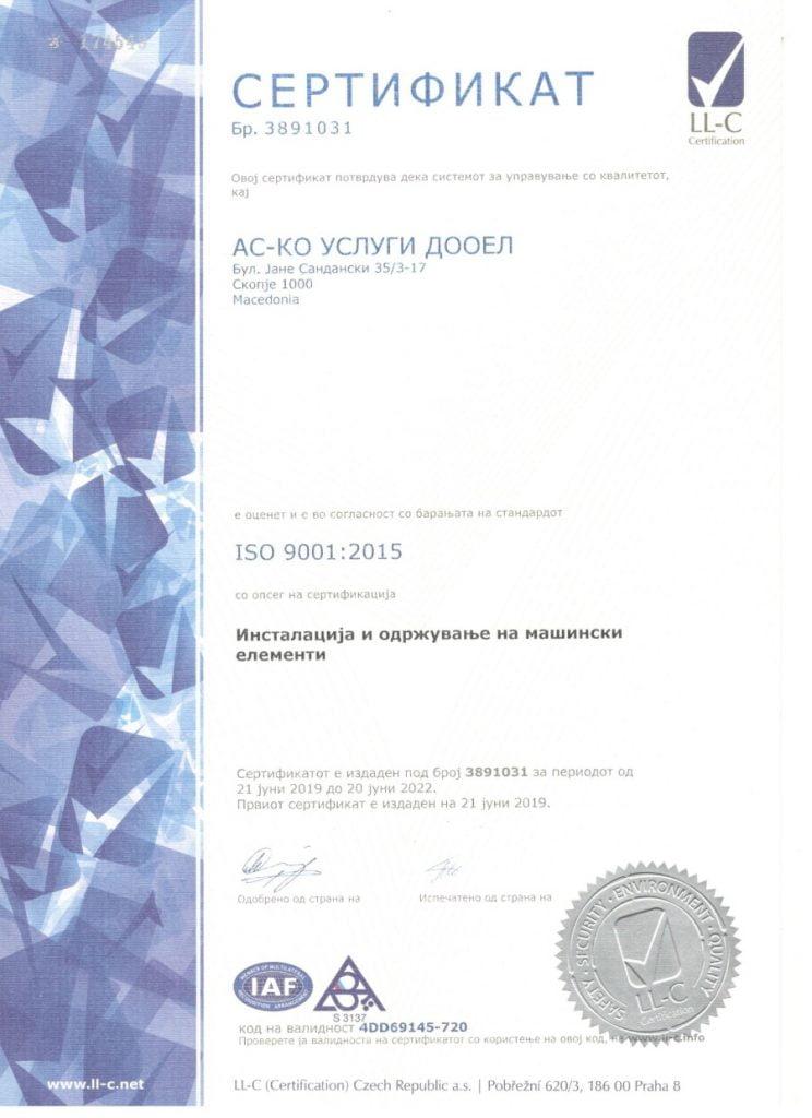 ISO 9001 MK